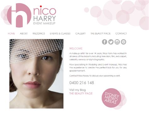 makeup artist bio template makeup artist website design web design templates make