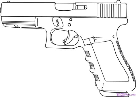 9mm Drawing by Drawing Of A Cop 9mm Pistol Drawing Guns