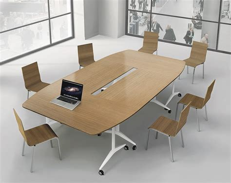 salle de bureau tables modulables plateau rabattable ubia