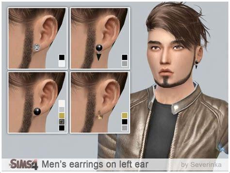 Sims 4 Mens Earrings | men s earrings set on left ear at sims by severinka 187 sims