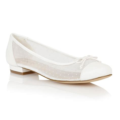 flat shoes white lotus damsel flat shoes in white lyst