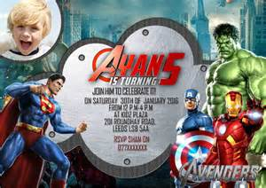 21 superhero birthday invitation templates free sample