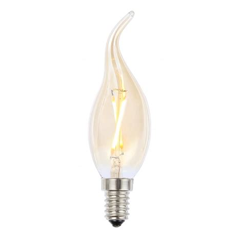 forum lighting inlight filament style 2w led bent tip candle bulb e14 ses lighting type from