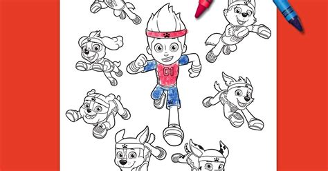 paw patrol all stars coloring page nickelodeon parents