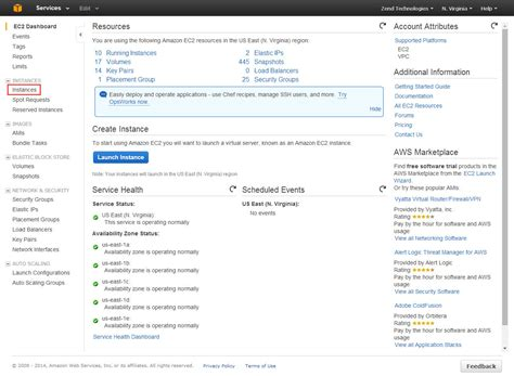 ec2 console access setting up zend server zend server 9 1