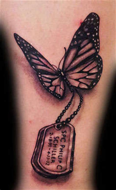 tattoo butterfly black and grey angelgalindo butterfly black and grey dog tags