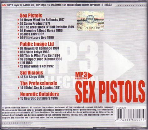 Cd Pistols Filthy Lucre Live never mind the bollocks heres the artwork albums no 507