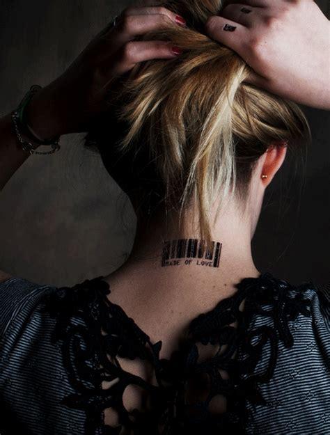 barcode tattoo theme 1000 id 233 es sur le th 232 me tatouage code barre sur pinterest