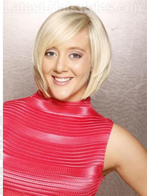 bevelled side hair short length hairstyles with bangs