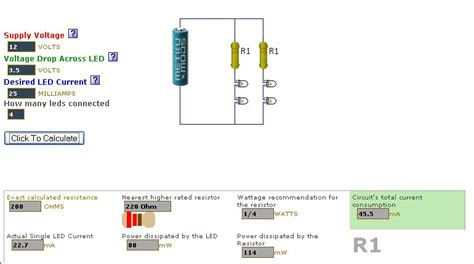 resistor current voltage calculator one stop electrical reference centre current limiting resistor calculator for leds