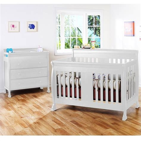 Davinci Porter 4 In 1 Convertible Crib White Davinci Porter 4 In 1 Convertible Crib With Changing Table In White M8501w M8555w Pkg