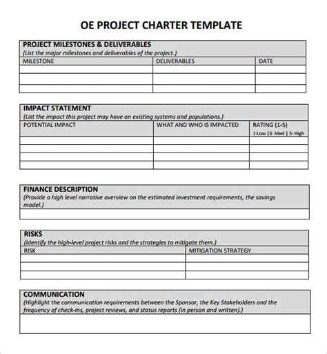 project charter 7 free pdf doc download sle