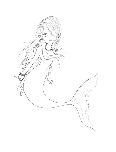 chibi mermaid lineart by kaitoucoon on deviantart chibi mermaid sketch by ladybaron on deviantart