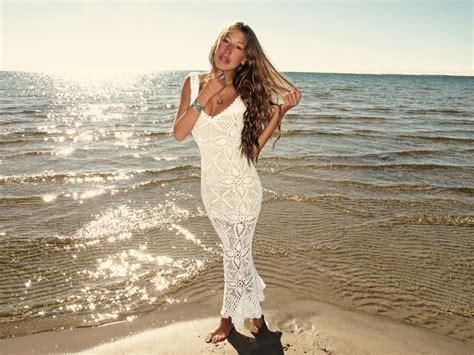Handmade Crochet Dress - emmaoclothing handmade crochet wedding dress white
