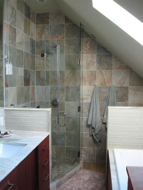 attic master bathroom  small space ideas