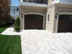 Mediterranean Home Decor Accents travertine pavers driveway mediterranean exterior