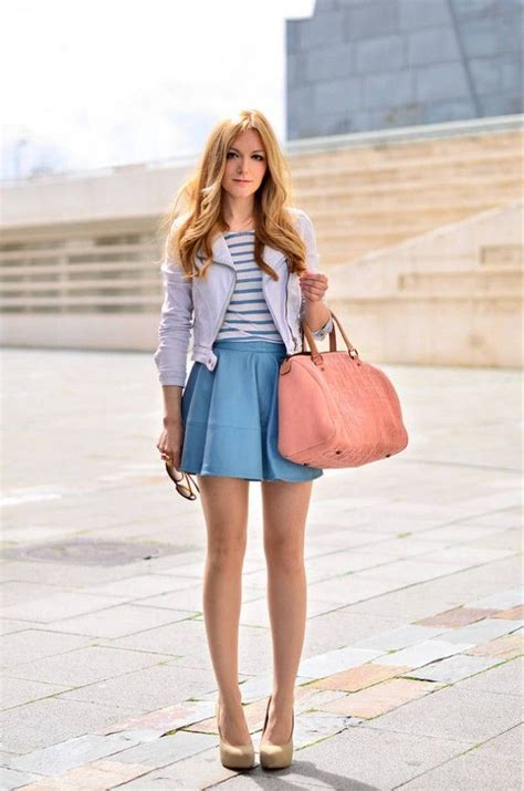 58 best what to wear with a light blue skirt images on