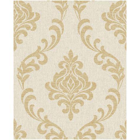 wallpaper gold beige b m gt fine decor torino beige gold damask wallpaper 288236