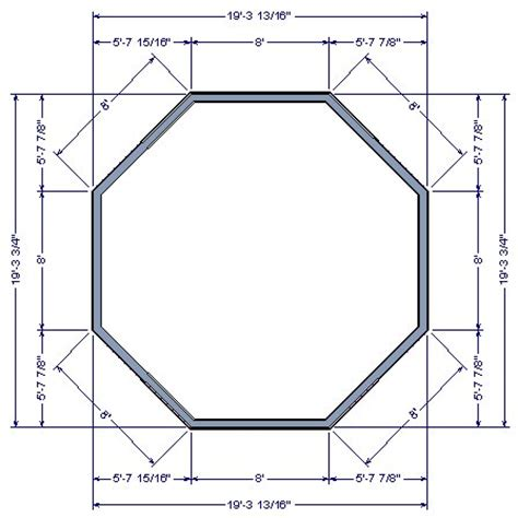 Floor Plans With Measurements by Drawing An Octagonal Structure