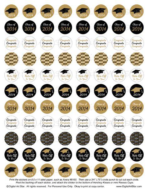 printable graduation stickers digital art star printable party decor diy graduation