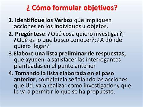 preguntas de investigacion verbos objetivos del problema de investigaci 243 n presentacion