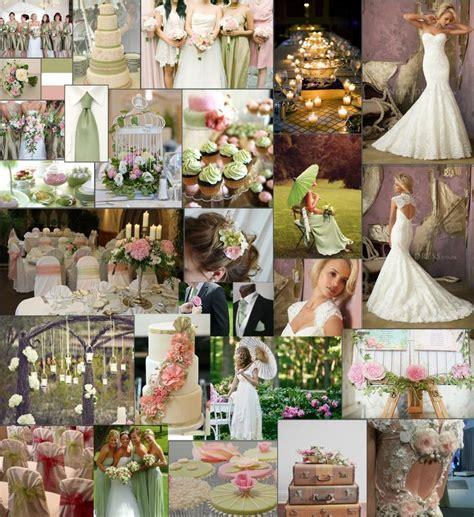 wedding colour scheme ideas   sage green, pink. white
