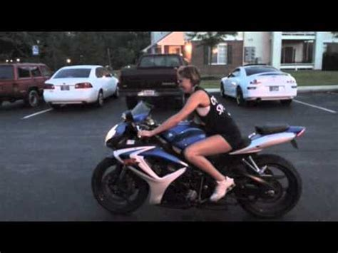 girl riding  motorcycle gsxr youtube