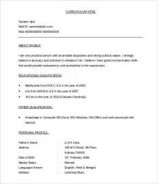 template of cv doc bpo resume template 22 free sles exles format