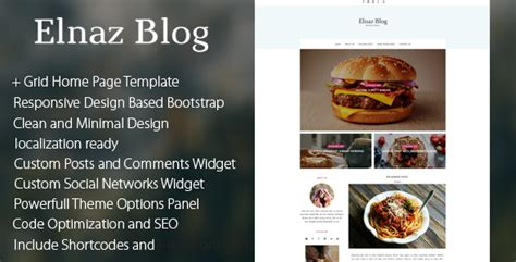 themeforest blog themeforest elnaz blog responsive wordpress blog theme