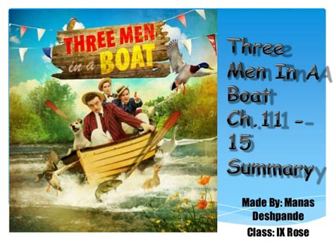 three men in a boat chapter 11 15 summary along with - Three Men In A Boat Setting