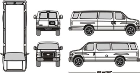 Ford E350 Outlines Ford F150 Wrap Template