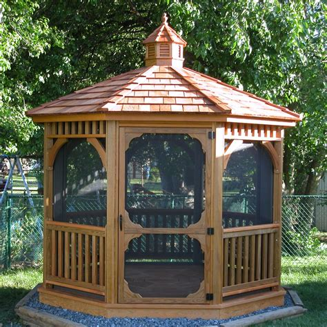 Handmade Gazebos - bayhorse gazebos barns octagon wood gazebo 8