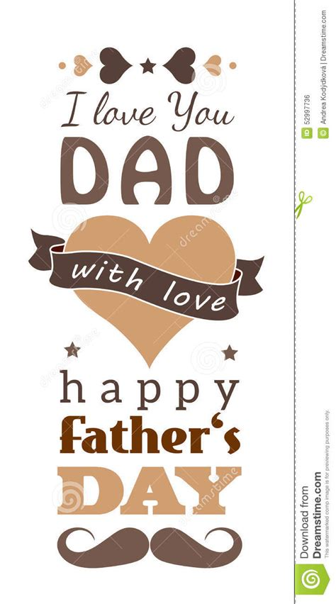 happy fathers day greeting card stock vector image
