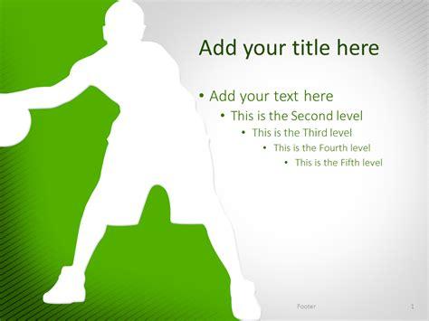 Basketball Powerpoint Template Green Presentationgo Basketball Powerpoint Template
