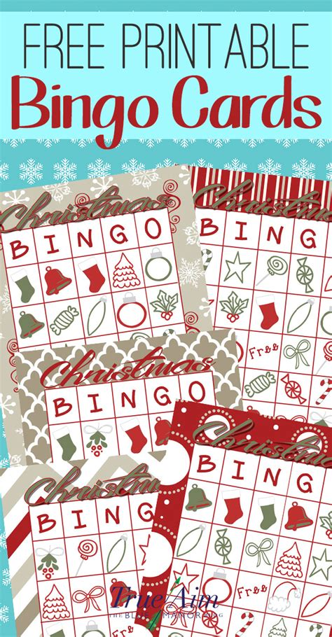 large group preschool christmas activities free printable bingo