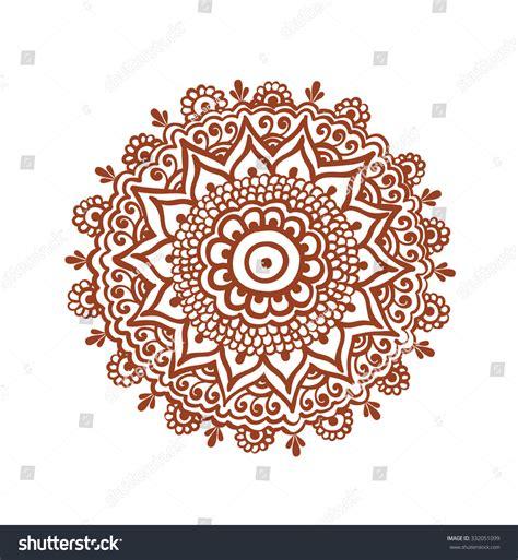 henna design circle ornate circle mandala traditional indian tattoo stock