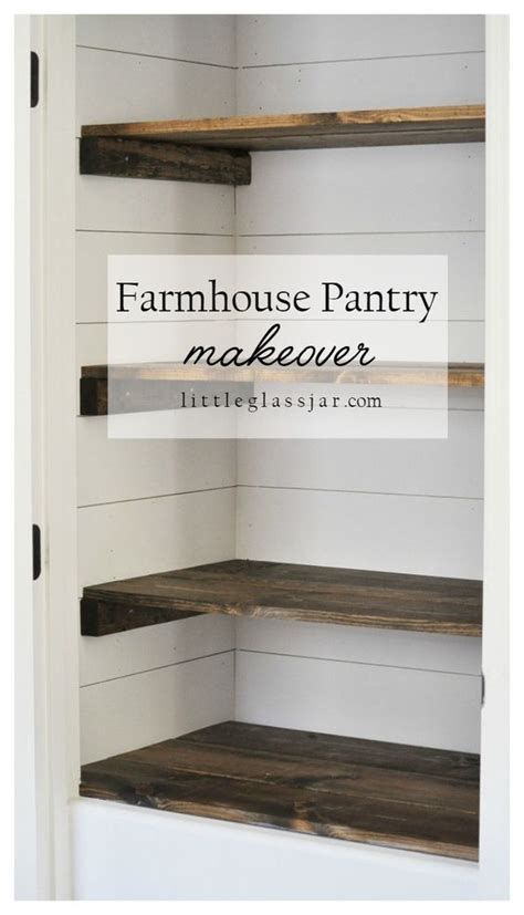 farmhouse pantry makeover wire shelving diy and crafts