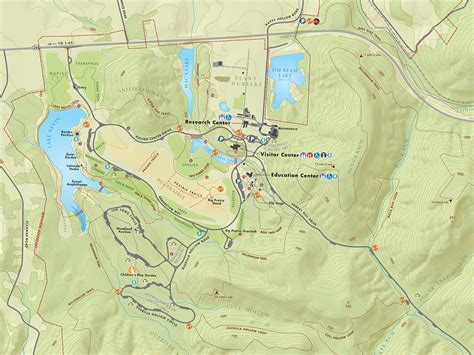 kentucky forest map hike the millennium trail bernheim arboretum and research