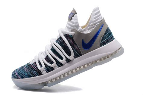 Nike Grey With Blue 2017 nike zoom kd 10 white blue grey for sale