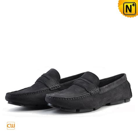 black slip on loafers mens mens slip on leather loafers cw740301