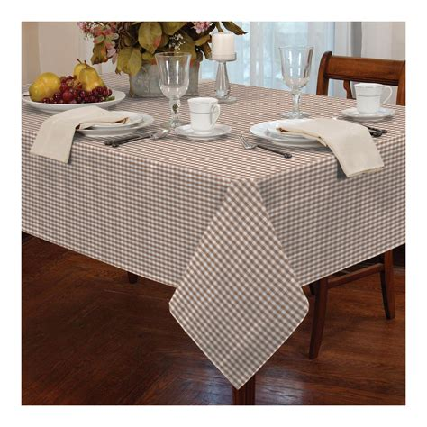 premium dyed gingham check table cloth for kitchen
