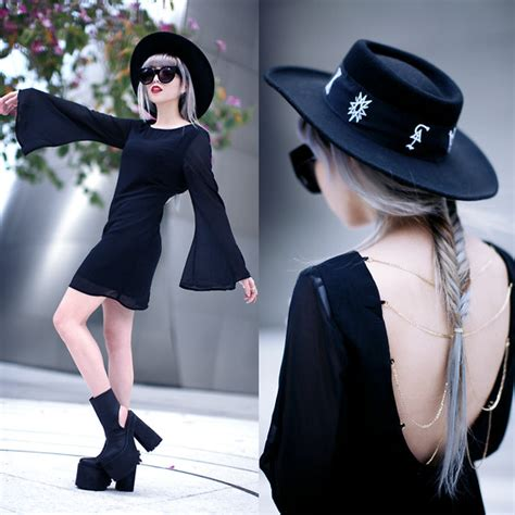essy noir klasik lila dress unif boyle platform unif relics hat guilty pleasure lookbook