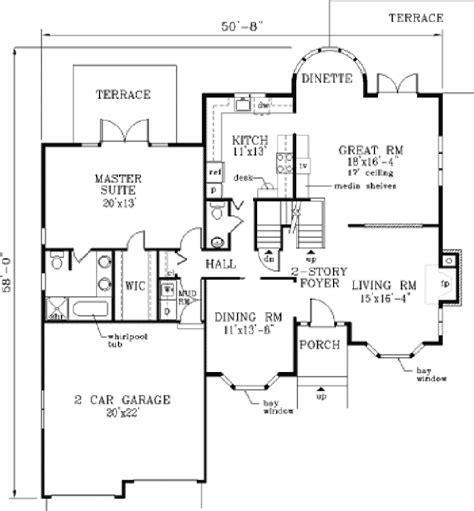 two story house floor plan colony two story home plan 089d 0046 house plans and more