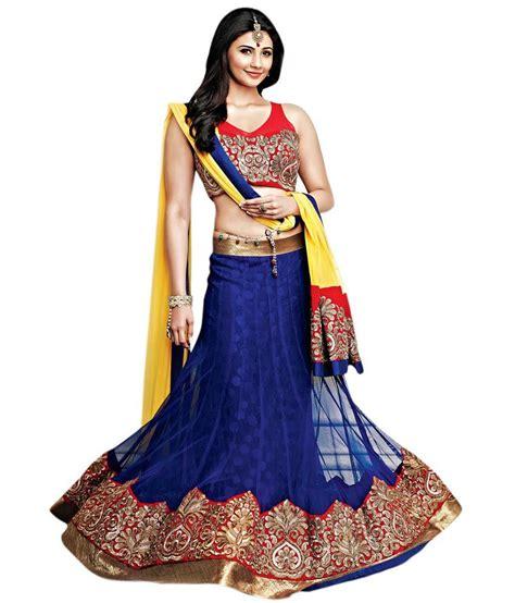 snapdeal shopping vishal blue net lehenga price in india buy vishal blue