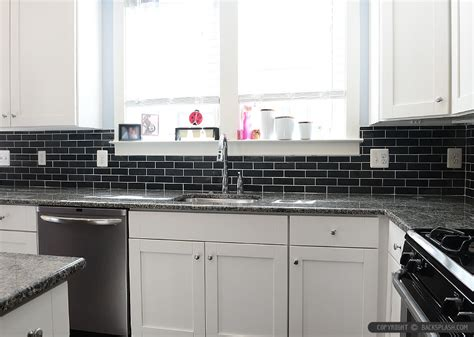 Black Backsplash Kitchen Black Slate Backsplash Tile New Caledonia Granite