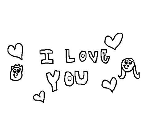 imagenes para colorear que digan te amo dibujos para colorear que digan te amo tio imagui