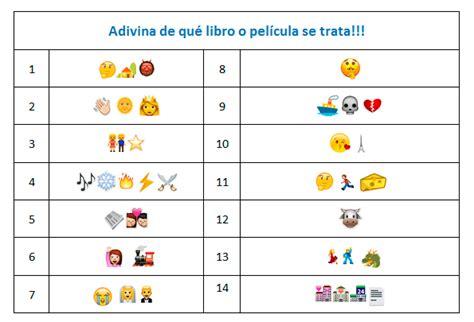 imagenes de adivina el emoji bases concurso 191 adivina qu 233 libros y pel 237 culas nos dicen