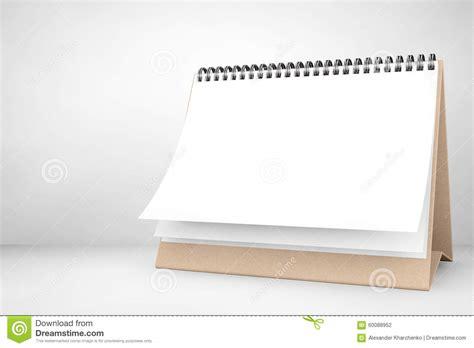 blank paper desk spiral calendar stock illustration