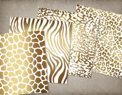 printable animal skin paper white and gold animal skins digital paper