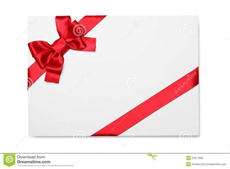 ribbon for card blank card with ribbon bow stock photo image 21877658